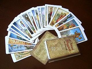 Major Arcana trump in the occult applications of tarot decks