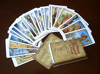 Major Arcana - The Major Arcana by R. Viesi is a deck of 22 cards inspired by the Tarot of Marseilles, but with the author's graphic style.