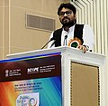 The Minister of State for Heavy Industries & Public Enterprises, Shri Babul Supriyo addressing the gathering, on the occasion of the Public Sector Day, in New Delhi on April 11, 2017.jpg
