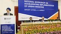 The Minister of State for Housing and Urban Affairs (IC), Shri Hardeep Singh Puri delivering the inaugural address at the National Workshop on Accelerating Implementation of Urban Missions AMRUT & Smart Cities, in New Delhi (1).jpg