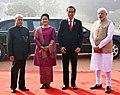 The President, Shri Pranab Mukherjee and the Prime Minister, Shri Narendra Modi with the President of Indonesia, Mr. Joko Widodo at the ceremonial welcome, at Rashtrapati Bhavan, in New Delhi on December 12, 2016 (1).jpg