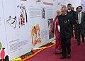 The President, Shri Pranab Mukherjee going around at New Delhi World Book Fair-2014, at Pragati Maidan, in New Delhi on February 15, 2014. The Union Minister for Culture, Smt. Chandresh Kumari Katoch is also seen.jpg