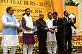 The President, Shri Pranab Mukherjee presenting the National Award for Teachers-2015 to Shri Denis G. Nongsie (Meghalaya), on the occasion of the 'Teachers Day', in New Delhi.jpg