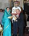 The President, Smt. Pratibha Devisingh Patil presenting the Padma Bhushan award to Shri Khayyam, at an Investiture Ceremony, at Rashtrapati Bhavan, in New Delhi on March 24, 2011.jpg