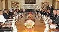 The Prime Minister, Dr. Manmohan Singh and the Prime Minister of Thailand, Mr. Abhisit Vejjajiva, at a delegation level talks, in New Delhi on April 05, 2011.jpg