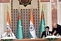 The Prime Minister, Shri Narendra Modi and the President of Turkmenistan, Mr. Gurbanguly Berdimuhamedov at the Signing Ceremony of the Agreements, in Ashgabat, Turkmenistan on July 11, 2015 (1).jpg