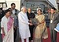 "The Prime Minister, Shri Narendra Modi with the Chief Minister of Gujarat, Smt. Anandiben Patel at ""Vibrant Gujarat"" Global Trade Show, Exhibition Venue, in Gandhinagar, Gujarat on January 08, 2015.jpg"