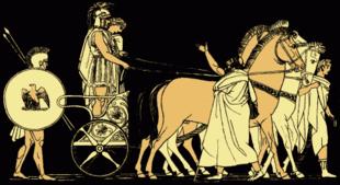 Il ritorno di Agamennone, da una illustrazione del 1879 per Stories from the Greek Tragedians di Alfred Church.