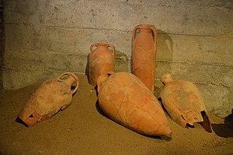 Roman ruins of Quinta da Abicada - Roman garum factory amphorae