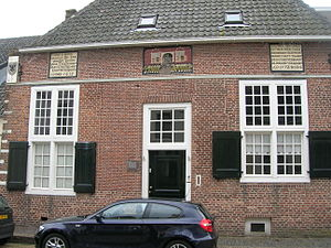 Naarden - The Spanish House, with design commemorating the massacre of 1572