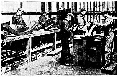 The Steam Turbine, 1911 - Fig 20 - Forming Segments of Casing and Rotor Blading.jpg
