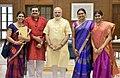 The family members of Bharat Ratna, M.S. Subbulakshmi meeting the Prime Minister, Shri Narendra Modi, in New Delhi on September 19, 2017.jpg