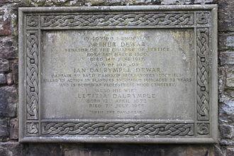 Arthur Dewar, Lord Dewar - The grave of Arthur Dewar, Lord Dewar, Dean Cemetery