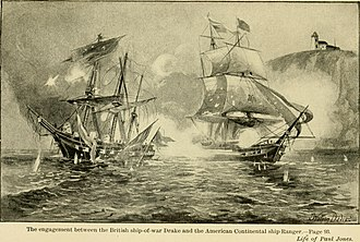 North Channel Naval Duel - The life of John Paul Jones – written from original letters and manuscripts in possession of his relatives, and from the collection prepared by John Henry Sherburne – together with Chevalier Jones' (14777463374)