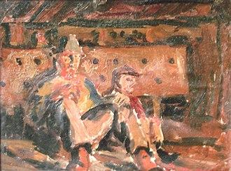 Ludwik Konarzewski-junior - The moment of the miner's rest, about 1950