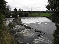 The weir at the Disused Ewart Liddell Weaving Factory, Donaghcloney. - geograph.org.uk - 1627491.jpg
