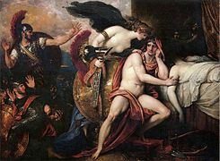 Thetis Bringing Armor to Achilles I by Benjamin West.jpg