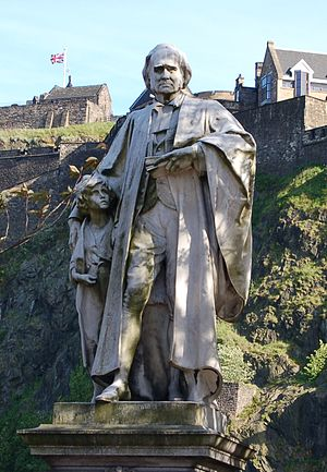 Thomas Guthrie - The statue of Thomas Guthrie on Princes Street, Edinburgh