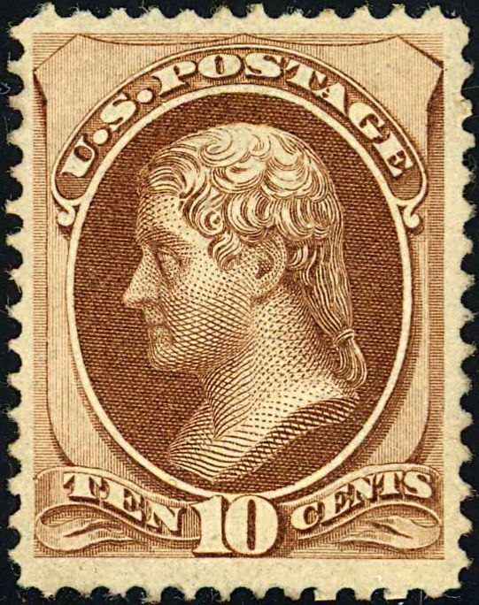 Thomas Jefferson 1870 Issue-10c
