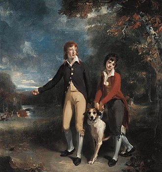 John Chetwynd-Talbot, 1st Earl Talbot - Portrait of Charles (1777-1849) and John Chetwynd-Talbot (1779-1825) by Thomas Lawrence, painted in 1793