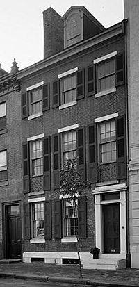 Thomas Sully House, 530 Spruce Street, Philadelphia (Philadelphia County, Pennsylvania) cropped.jpg