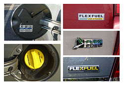 Typical Labeling Used In The Us To Identify E85 Flex Fuel Vehicles Top Left A Small Sticker Back Of Filler Door