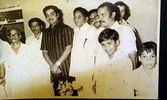 Prem Nazir - Prem Nazir with friends in Perumbavoor.