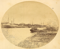 Tianjin, with Western Ships in Hai River and Grand, Colonnaded Western Building on the River Bank. China, 1874 WDL2109.png