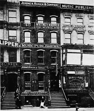 Tin Pan Alley - Buildings of Tin Pan Alley, 1910