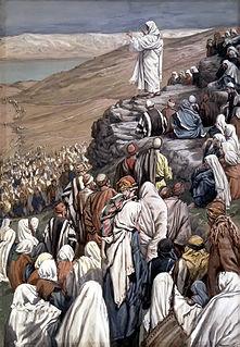 Beatitudes part of Jesus' sermon on the mount