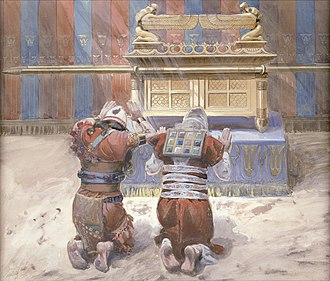 Ark of the Covenant - Moses and Joshua bowing before the Ark, painting by James Tissot, c. 1900