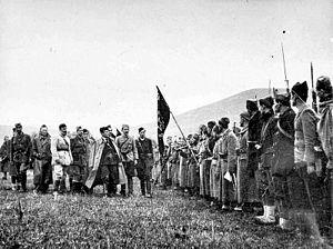 1st Proletarian Brigade - Supreme Commander Tito inspects the First Proletarian Brigade