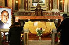 Tomba del Beato Pino Puglisi nella Cattedrale di Palermo