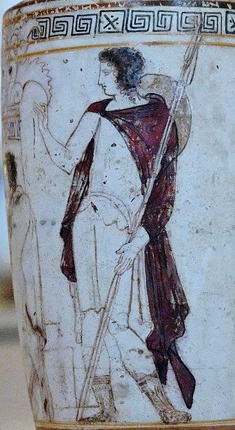Petasos - Image: Tomb scene Petit Palais ADUT00355 n 2
