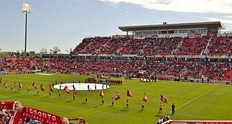 2014 FIFA U-20 Women's World Cup - Image: Toronto FC Anthems BMO