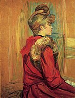 Toulouse-Lautrec - Girl in aa Fur, Mademoiselle Jeanne Fontaine, 1891.jpg