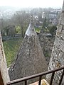 Tourelle sud-ouest de la Tour César à Provins.jpg