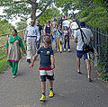 Tourists walking up to Royal Observatory, Greenwich Park, London.jpg