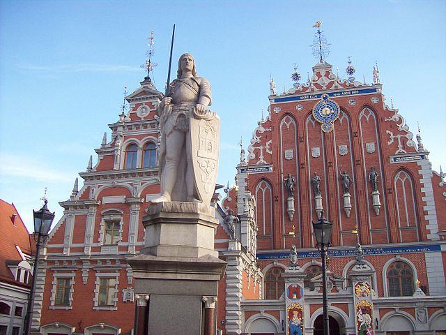 """Town Hall and House of Black Heads, Riga, Latvia"" by Paul.berzinn. - Own work of user Paul.berzinn.. Licensed under Public domain via Wikimedia Commons - https://commons.wikimedia.org/wiki/File:Town_Hall_and_House_of_Black_Heads,_Riga,_Latvia.jpeg#mediaviewer/File:Town_Hall_and_House_of_Black_Heads,_Riga,_Latvia.jpeg"
