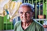 Trabajadora de chicharronera en Boquerón.JPG
