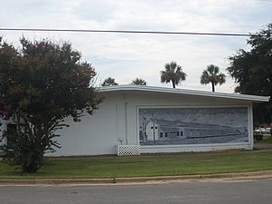 Donalsonville, Georgia - Train Depot Mural on Lions Hall