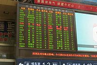 Train information display system at Beijing West Railway Station (20160323151440).jpg