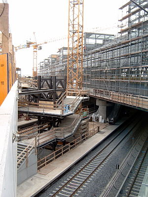 Berlin Südkreuz - Construction works in 2005