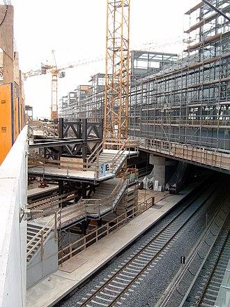 Berlin Südkreuz - Construction works in 2005