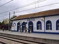 Train station in Oropesa del Mar, Valencia Region, Spain.jpg