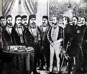 History of French-era Tunisia - At signing the Treaty of Bardo 1881.