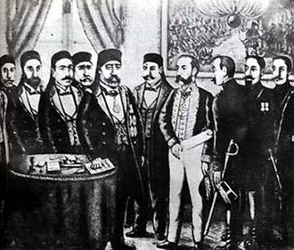 History of French-era Tunisia - At signing the Treaty of Bardo 1881.