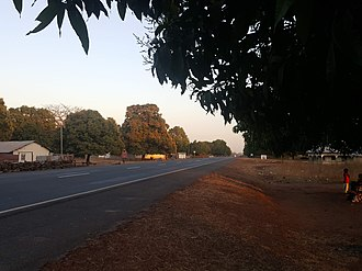 Trans-Gambia Highway - The South Bank Road in the Central River Division