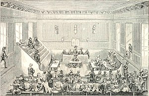 Revolutionary Tribunal - The Tribunal, from La Démagogie en 1793 à Paris by Dauban (H. Plon ; 1868)
