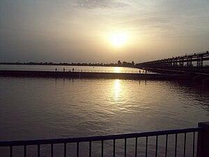 English: Trimmu Head, where Chenab and Jehlum ...